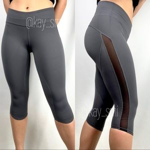 Lululemon Ride Inside Crop Soot Gray